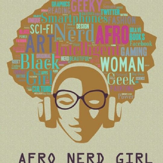 AfroArt Nerd Girl