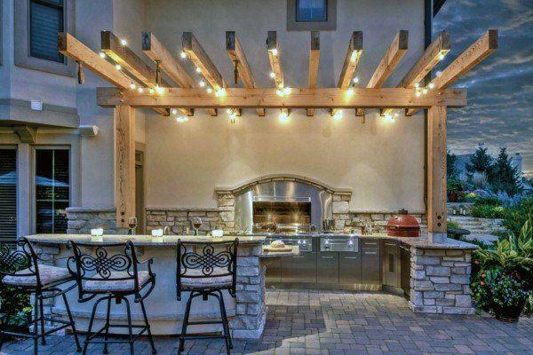 Top 60 Best Outdoor Kitchen Ideas Chef Inspired Backyard Designs Outdoor Kitchen Lighting Outdoor Patio Lights Outdoor Kitchen Design
