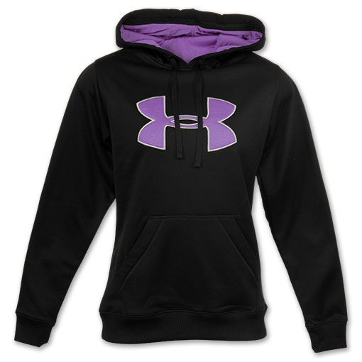 under armour hoodies for men   Under Armour Big Logo Women's Hoodie   FinishLine.com   Black/Purple