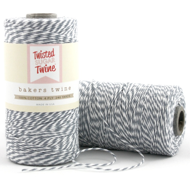 $10.99 Gray Macaron 240 Yards per Spool. Spark Twine™-Bakers Twine. #Bakerstwine #crafts #DIY #wedding #favors #party #favors #giftwrapping #product #packaging #wrapping #gift #scrapbooking #gray #retro #vintage #modern #decor #kraft #sting #supplies #cotton #eco #friendly