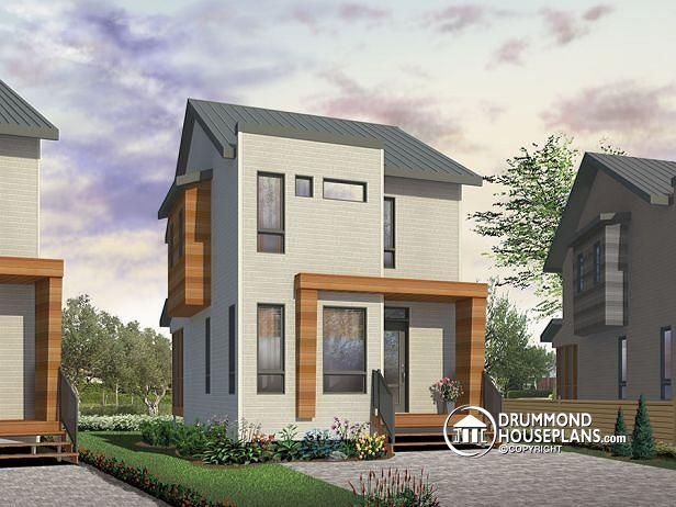 W1700   Comfortable U0026 Small 976 Sq.ft. Tiny House Plan, 3 Bedrooms, Open  Floor Plan, Screened Porch On Rear Balcony