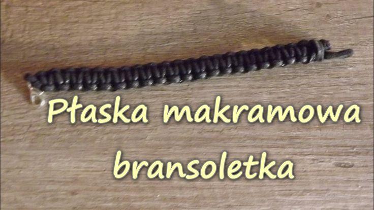 Płaska Makramowa bransoletka - Makrama