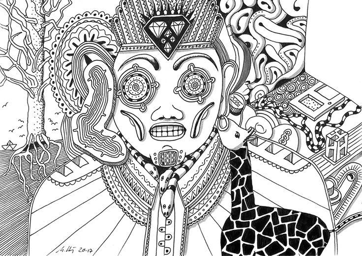 """""""beyond Good and Evil"""", #Zeichnung #Pigmenttusche (Staedtler Pigment Fineliner) auf #Hahnemühle #Papier """"Nostalgie"""", 190 g/m2 21 x 29,7 cm, © #matthias #hennig 2017    """"beyond Good and Evil"""", #india #ink #drawing (Staedtler Pigment Fineliner) on Hahnemühle #paper """"Nostalgie"""",190 g/sqm 21 x 29,7cm, © #matthias #hennig 2017 #myStaedtler #hennigdesign #artwork #moremoneyforartists #unexpected"""