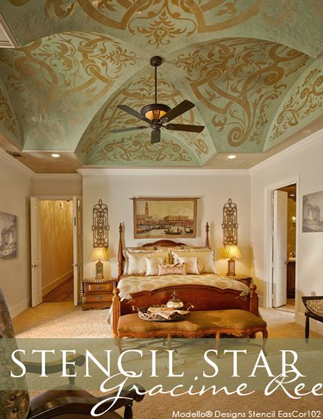 Luxury Master Bedroom Suites Designs And Interiors: Great Customer Stencil Projects