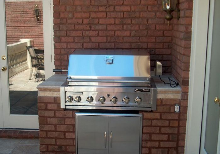 Brick Grill Enclosure Outdoor Kitchens And Grill
