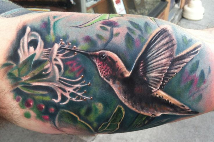 honeysuckle tattoos | ... the Map Tattoo : Tattoos : Johnny Smith : hummingbird and honeysuckle