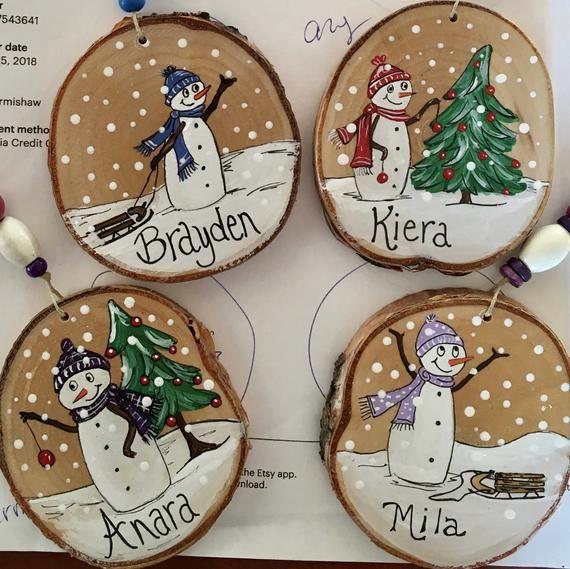 Canadian Snowman Christmas Ornament