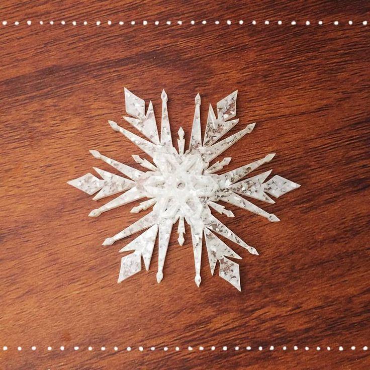 Limited edition Deer Arrow Snowflake Brooch