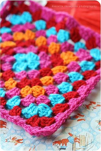 granny square the colors are fab.