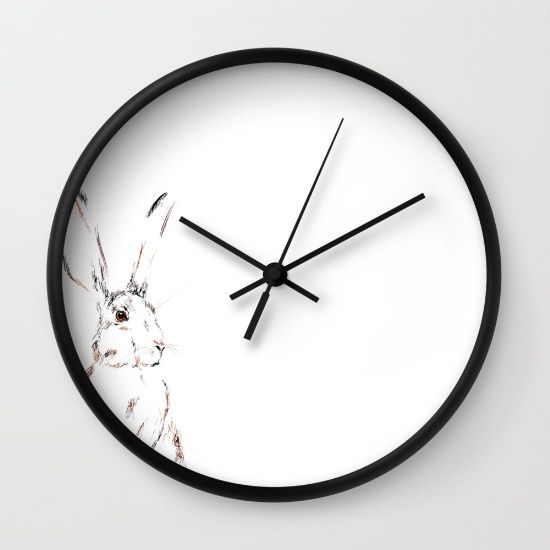 Hare Today III Wall Clock by Art By Chrissy Taylor - $30.00