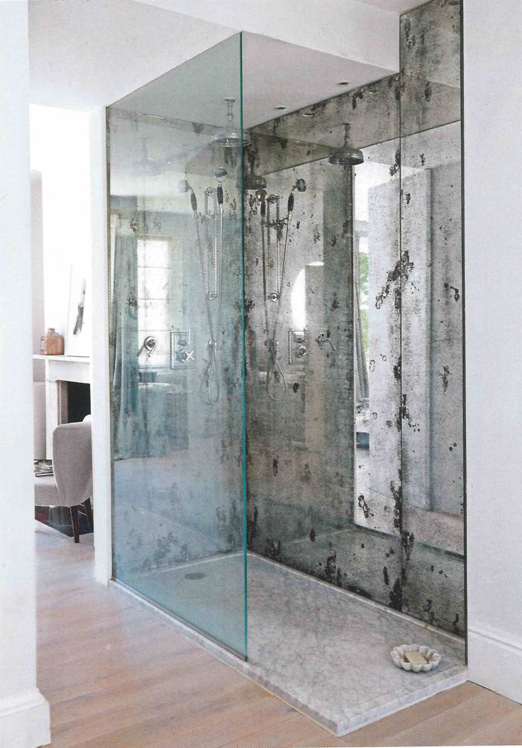 Antique glass splashback shower. Dominic Schuster ...
