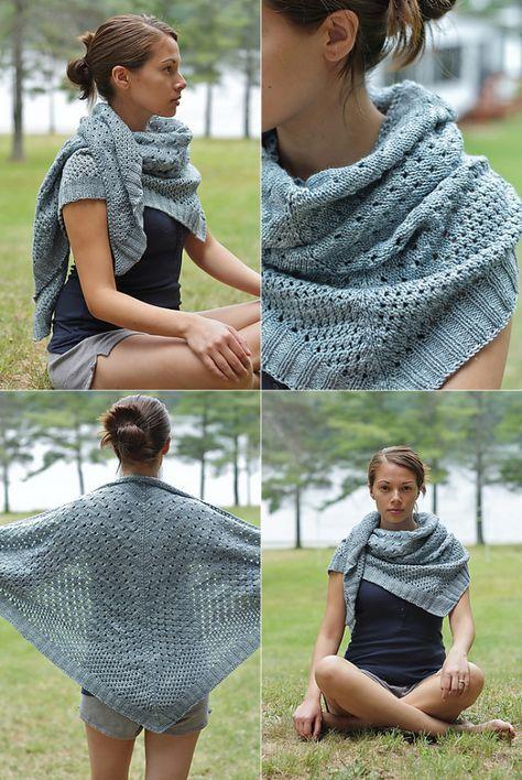 campside shawl - free knitting pattern on espacetricot