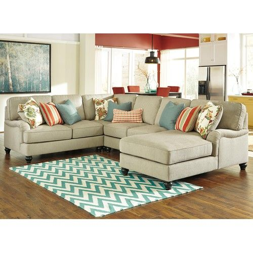 Benchcraft kerridon 4 piece sectional with english arms for Sectional sofa redo