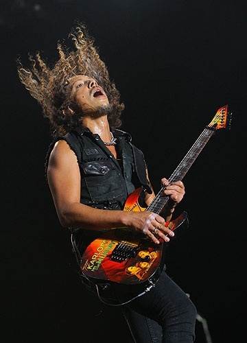 Kirk Hammett (Metallica)- You have inspired me to learn god damn triplets. I aim to be able to play your creative, smooth flowing, and enjoyable solos. It's a slow work in progress.
