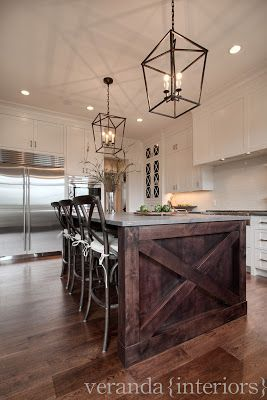 Watermark {Spyglass} Kitchen Island Detail // Veranda Estate Homes & Interiors