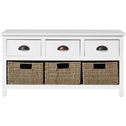 Ella White 3 Drawer Coffee Table