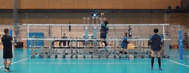 Japanese Robot Block Machine For Volleyball Training Can Mimic Human Blockers