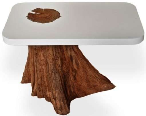 the bloom side table is made out of salvaged cedar wood shoes footwear trendhunter