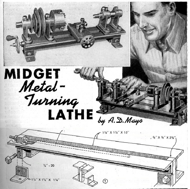 Look! you don't need Thouseands, or even hundreds of dollars for a small lathe at home. I am totally going to make one of these at some point  Popular Mechanics - Plans for Micro Lathe