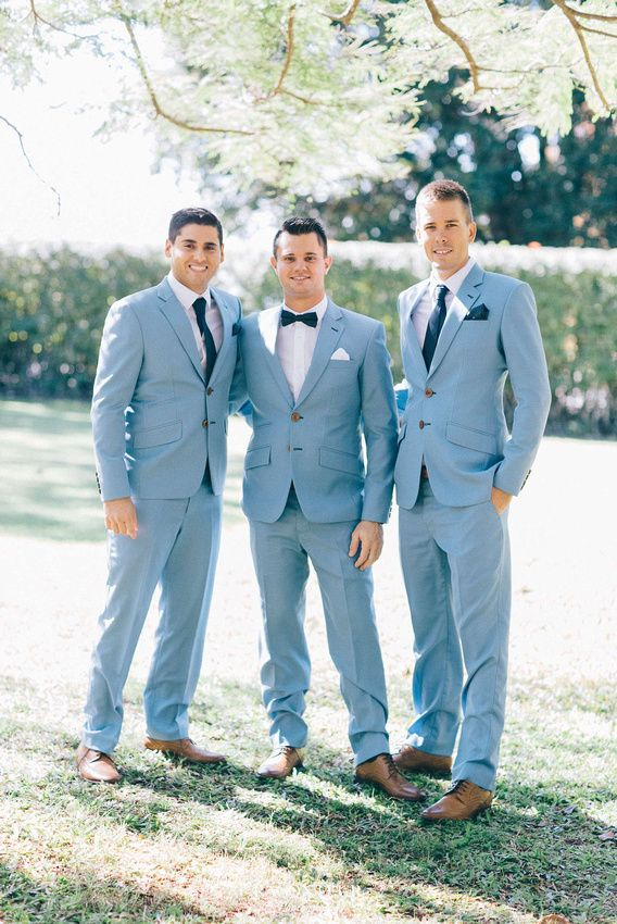 Blue suits and bow ties