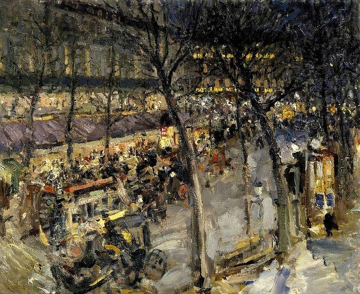 Константин Коровин  Constantin Korovin- Париж. Кафе де ля Пэ Paris Café de la Paix
