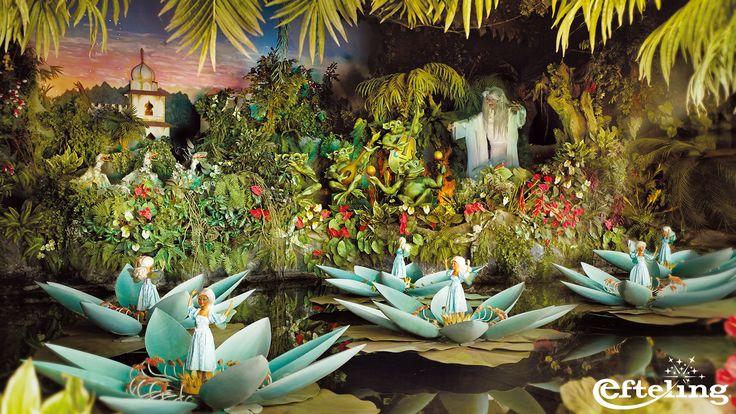 Wallpaper van het sprookje De Indische Waterlelies in de Efteling