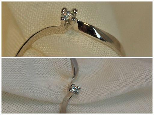 SORTIJA ORO BLANCO Y DIAMANTE TALLA BRILLANTE 0.04KT(2.10 MM) (482091): 220€ http://www.lacasadeloscarrillones.blogspot.com.es