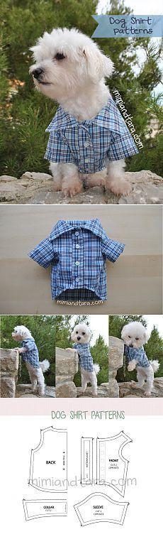 modelo de camisa do cão | Mimi e Tara | Livre o cachorro Vestuário Patterns