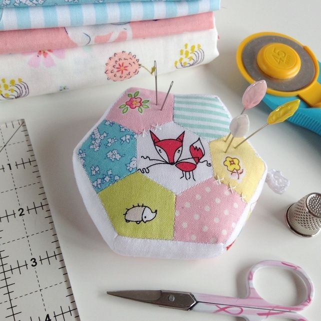 Patchwork Pincushion - Foxy