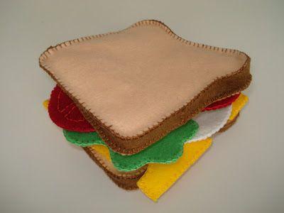 Felt sandwich tutorial from Cupcake Cutie