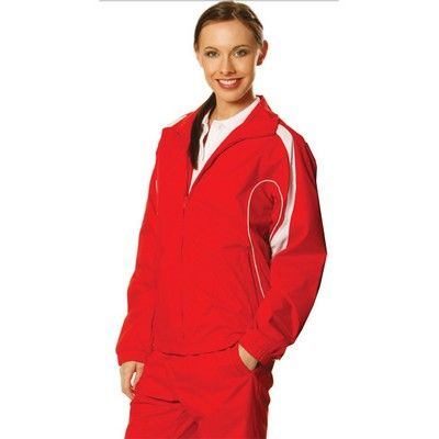 Adults Warm Up Embroidered Jacket (Unisex) Min 25 - Water Resistant Raglan Sleeve Jacket with Breathable Mesh Panels under Arm and on Sides, Contrast Piping along Mesh. http://www.promosxchange.com.au/adults-warm-embroidered-jacket-unisex/p-10826.html