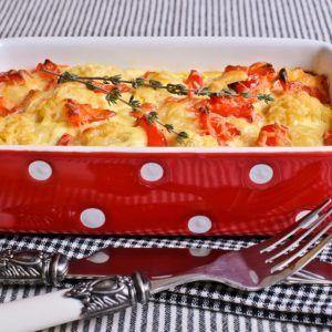 Запеканка из картошки и печени