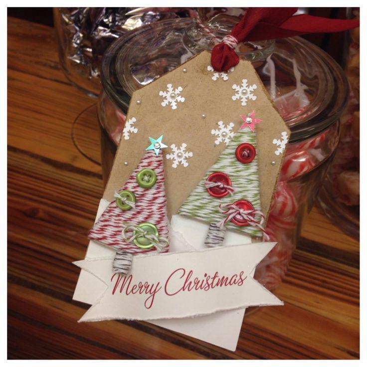 Da sieht das Gläschen doch gleich viel schöner aus! #Stampinup #Anhänger #Weihnachten