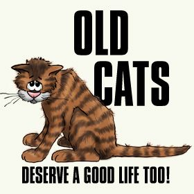 Senior cats are the last to be adopted at Shelters.  They are often much-loved animals who have been surrendered because of death or economic difficulty.  They are alone and scared and would like nothing more than to love and be loved again.  Please adopt!