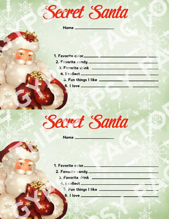 secret santa questionnaire for work pdf