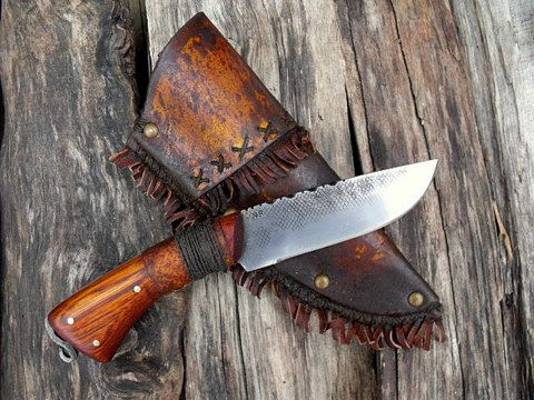 period hand forged frontier hunter knife