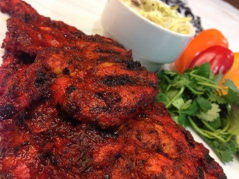 Tandoori Chicken In Microwave And Green Chutney - YouTube