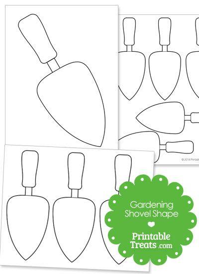 Printable Gardening Shovel Shape from PrintableTreats.com