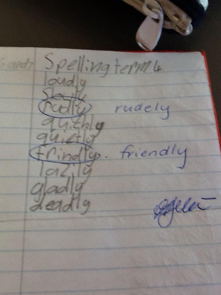 Sophie spelling term 4