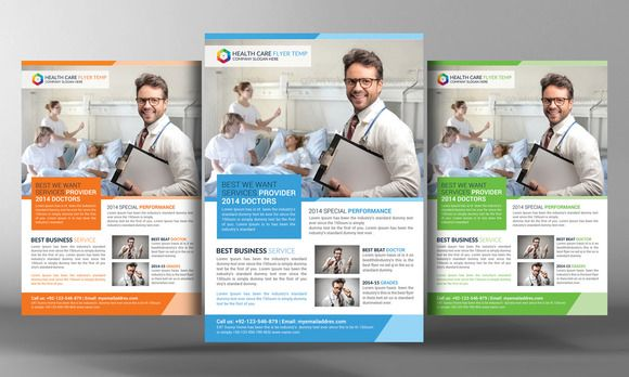 Health Care Flyer Template by Business Templates on Creative Market