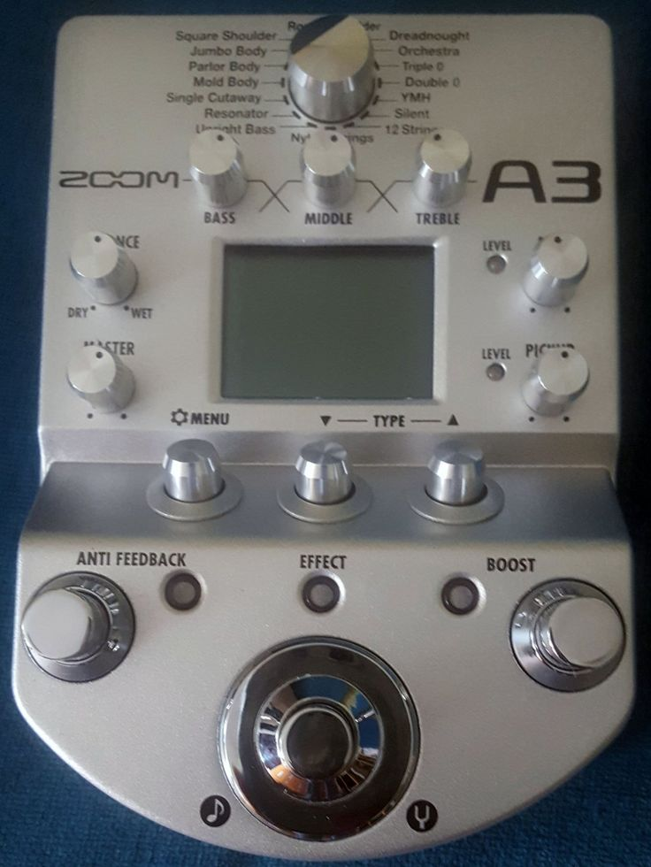ZOOM A3 PREAMP ACOUSTIC GUITAR