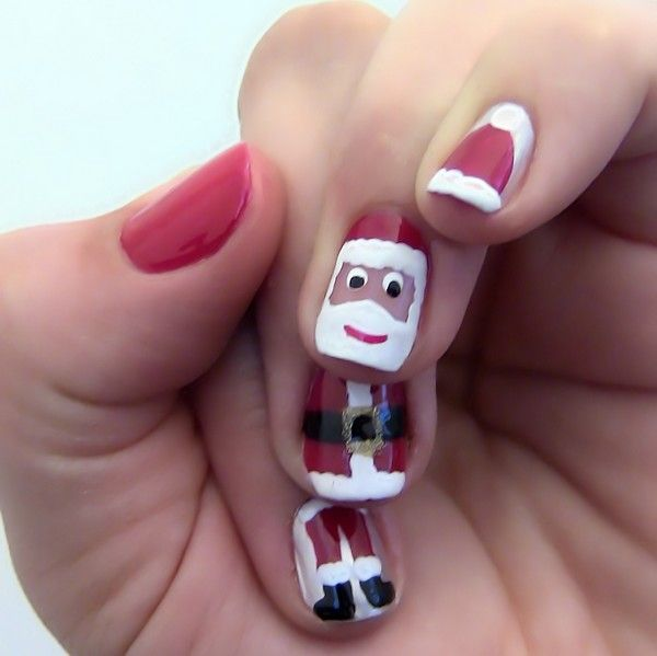 Christmas Nail Art 2013 | Holiday Nail Art Tumblr | Crystal Nail Art Rhinestones | Holiday Nails Jlt