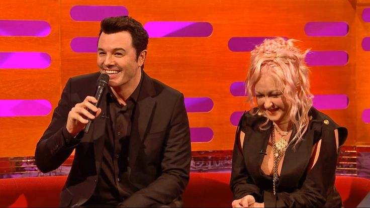 Seth MacFarlane as Stewie and Peter Griffin sings Cyndi Lauper - The Gra...