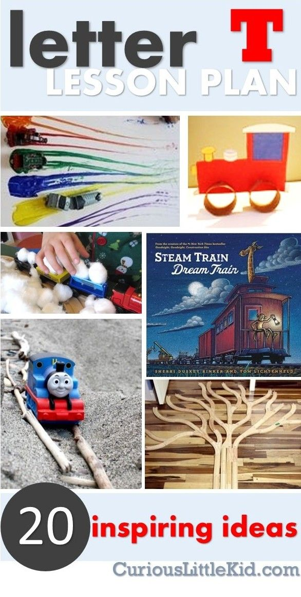 T is for Train lesson plans | Curious Little Kid