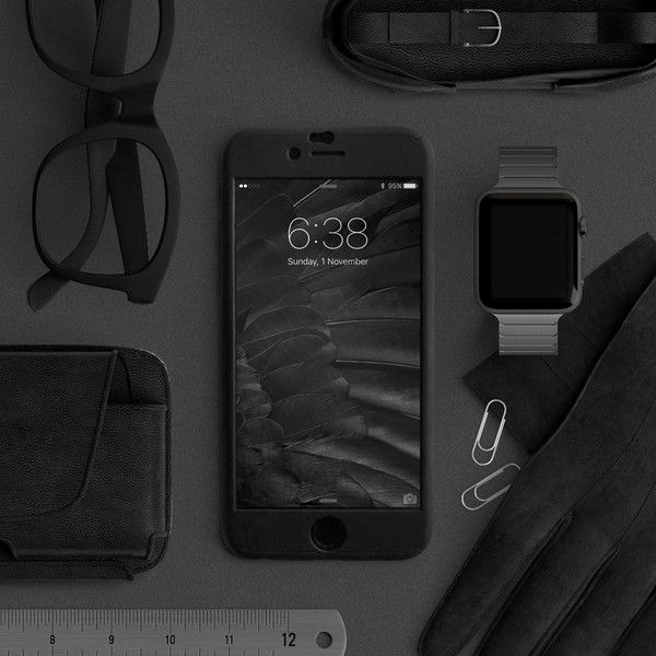 Full protection iPhone 6 / 6s black case