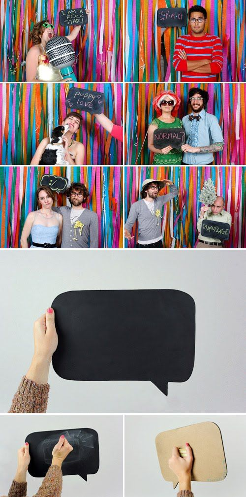 Talk chalk board bubbles for photo booth!!