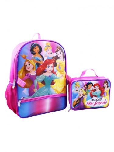a3f46c5def38 Girls School Backpack Disney Princess Backpack w/Lunchbox w/Padded ...