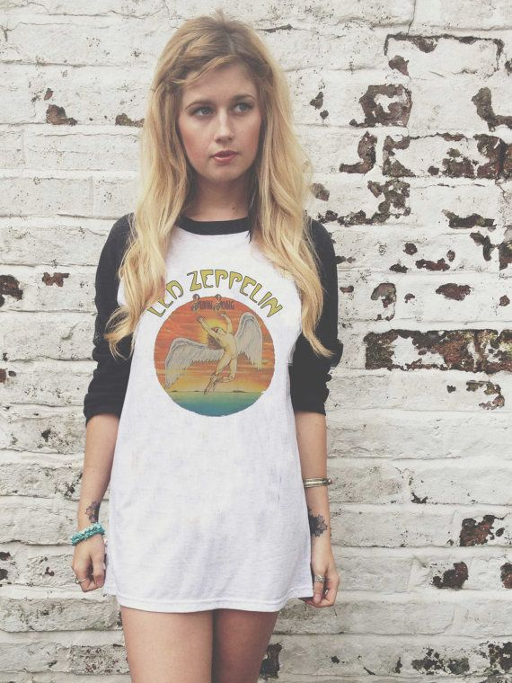 Led Zeppelin Swan Song Vintage Style TShirt / by ExileWear on Etsy, £14.99