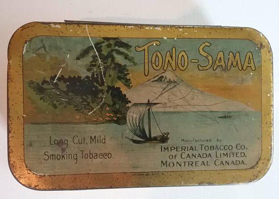 Vintage Tono-Sama Smoking Tobacco Tin Imperial Tobacco Co. of
