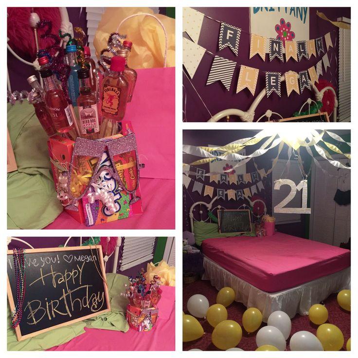 My best friends 21st birthday room.